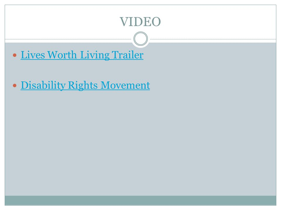 VIDEO Lives Worth Living Trailer Disability Rights Movement