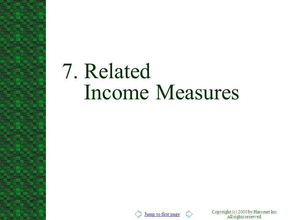 7. Related Income Measures