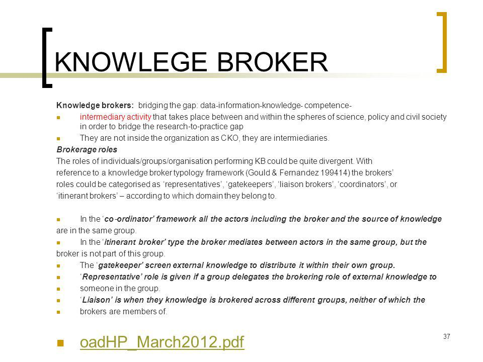 KNOWLEGE BROKER oadHP_March2012.pdf