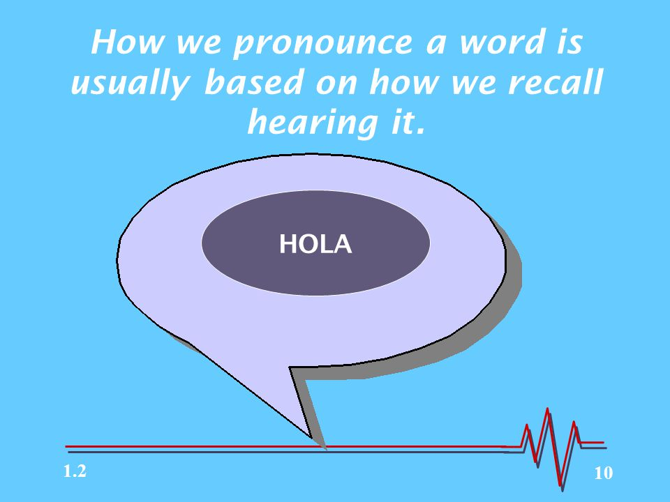 How we pronounce a word is usually based on how we recall hearing it.
