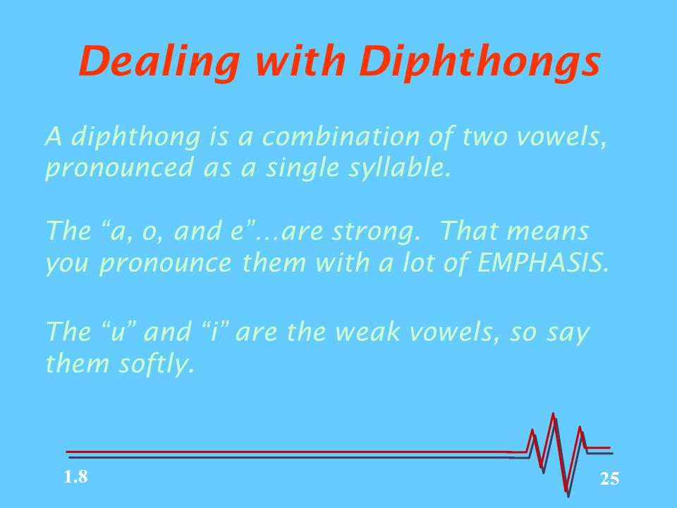 Dealing with Diphthongs