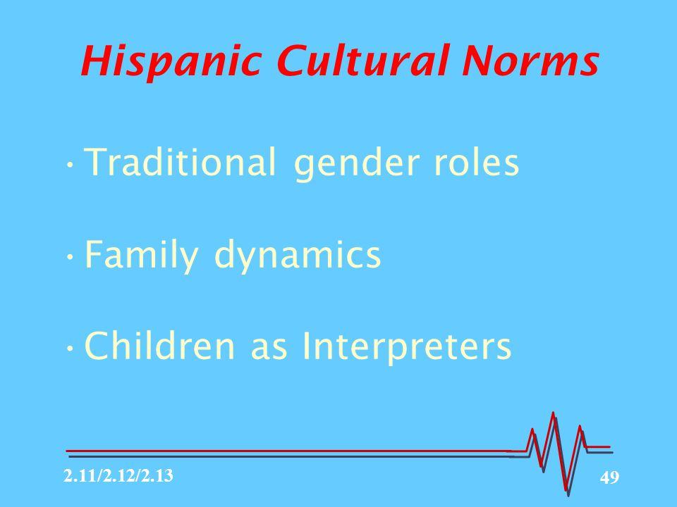 Hispanic Cultural Norms