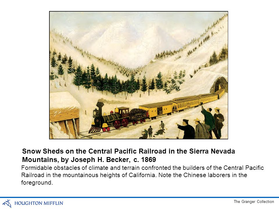 Snow Sheds on the Central Pacific Railroad in the Sierra Nevada Mountains, by Joseph H. Becker, c. 1869