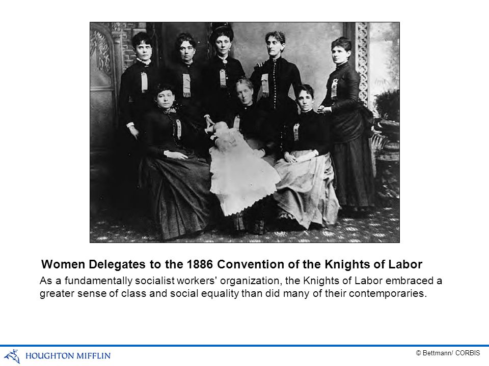 Women Delegates to the 1886 Convention of the Knights of Labor