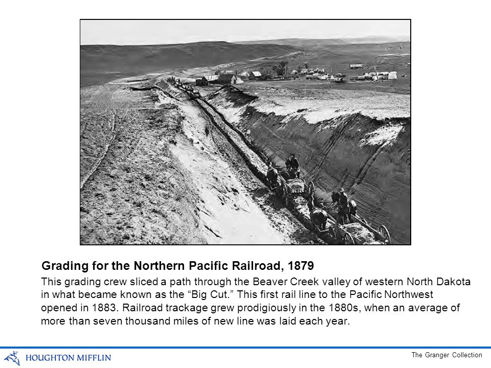 Grading for the Northern Pacific Railroad, 1879
