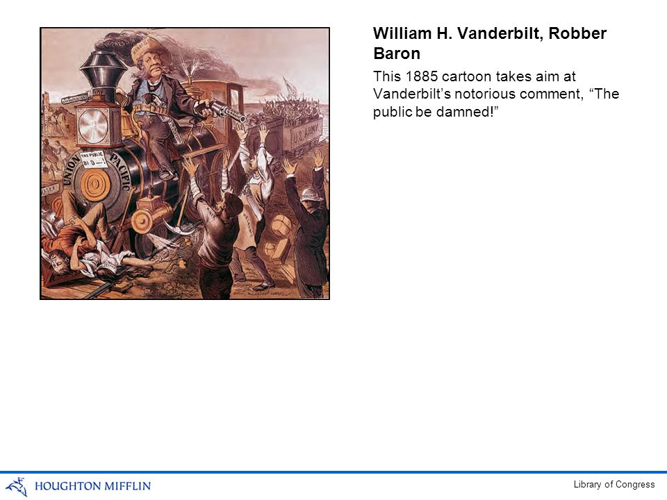 William H. Vanderbilt, Robber Baron