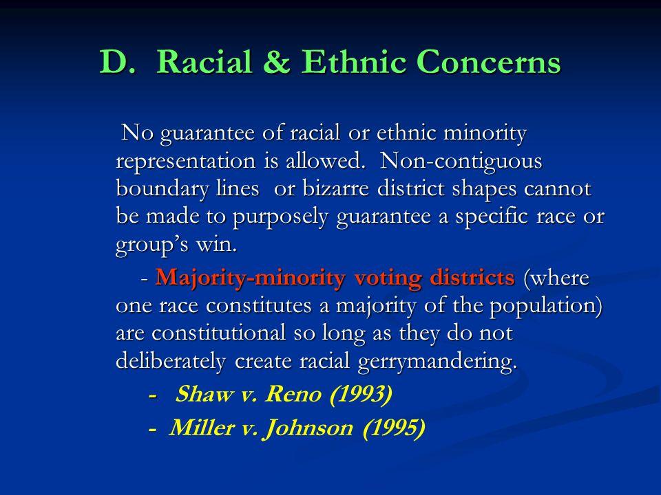 D. Racial & Ethnic Concerns
