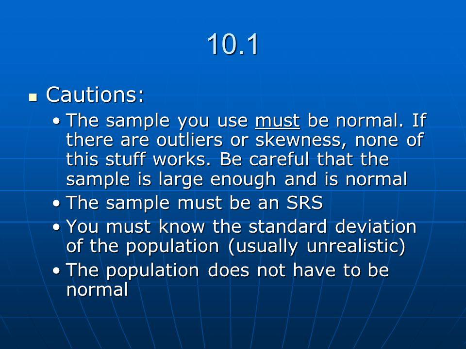 10.1 Cautions: