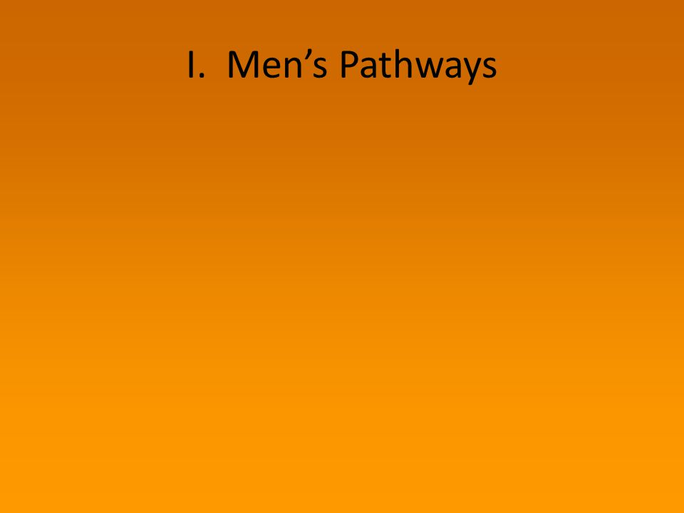 I. Men's Pathways