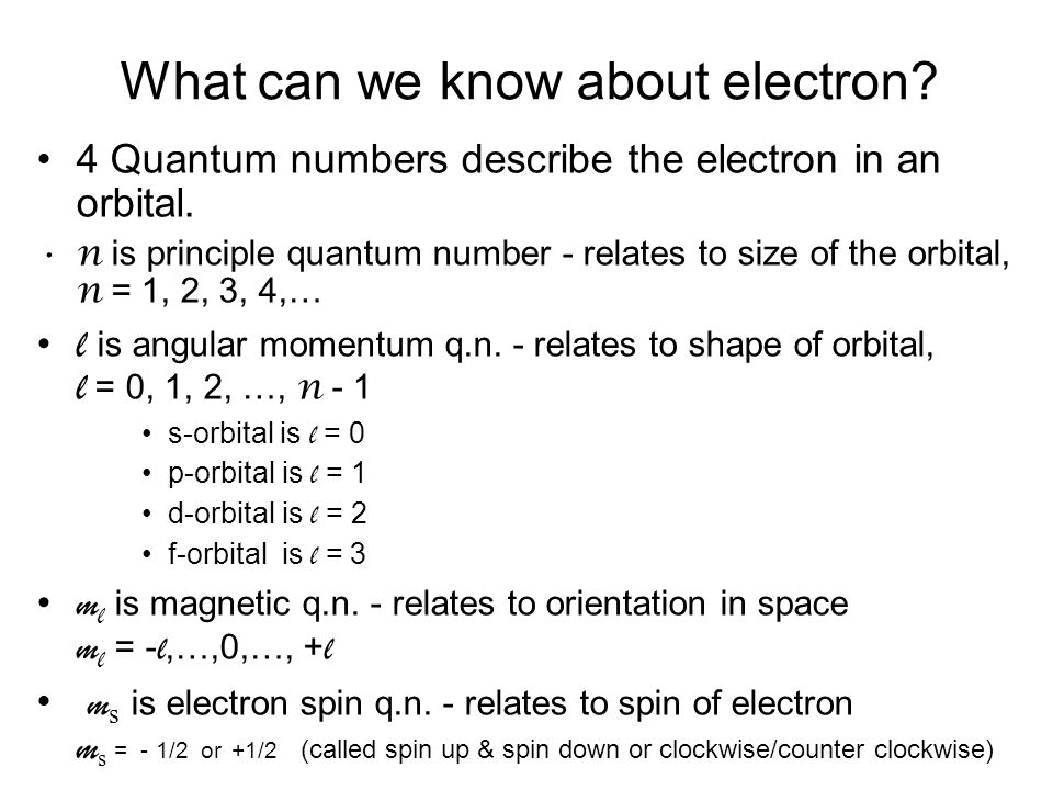 What can we know about electron
