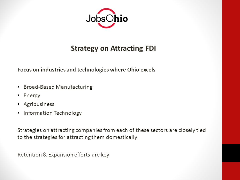 Strategy on Attracting FDI