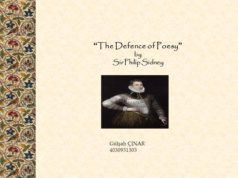 The Defence of Poesy by Sir Philip Sidney