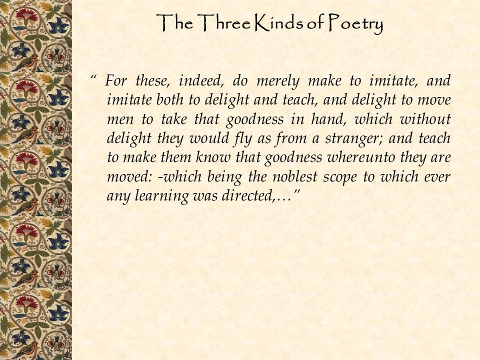 The Three Kinds of Poetry