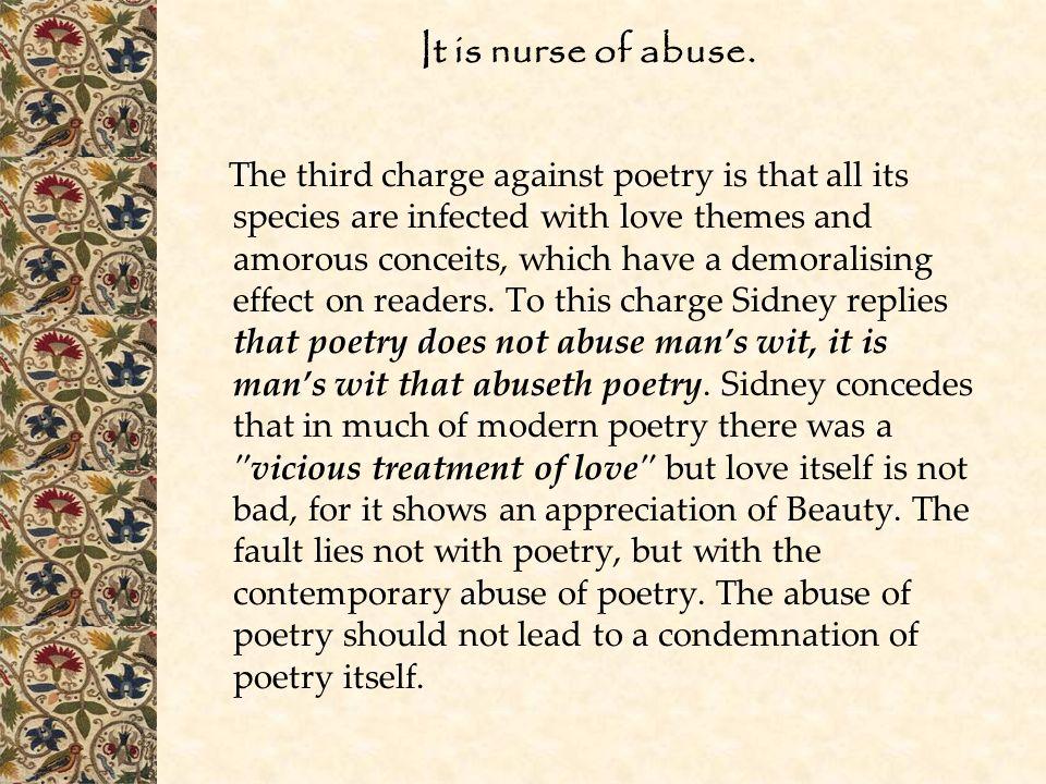 It is nurse of abuse.