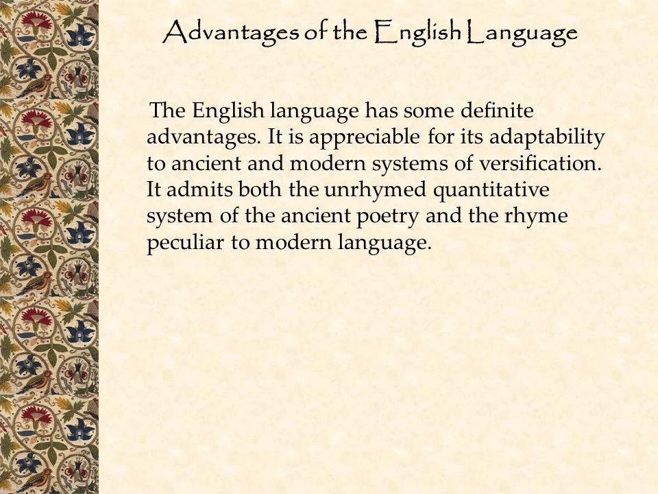 Advantages of the English Language