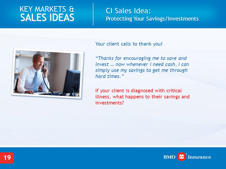 CI Sales Idea: Protecting Your Savings/Investments