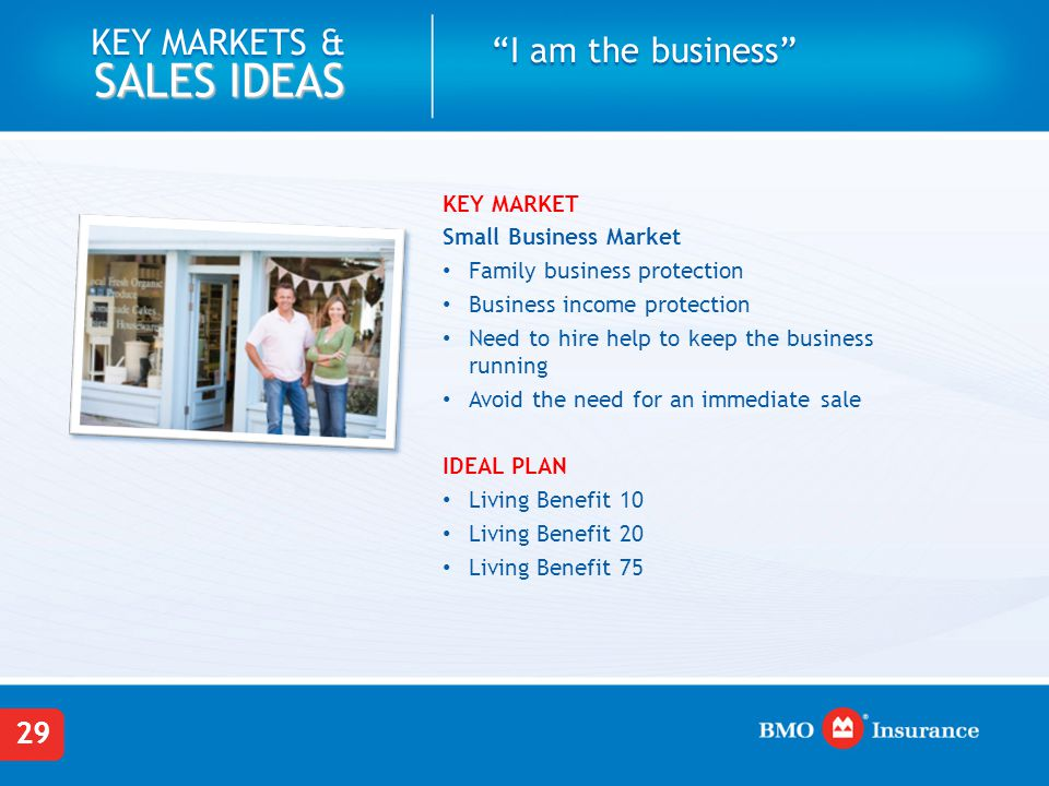 I am the business Small Business Market
