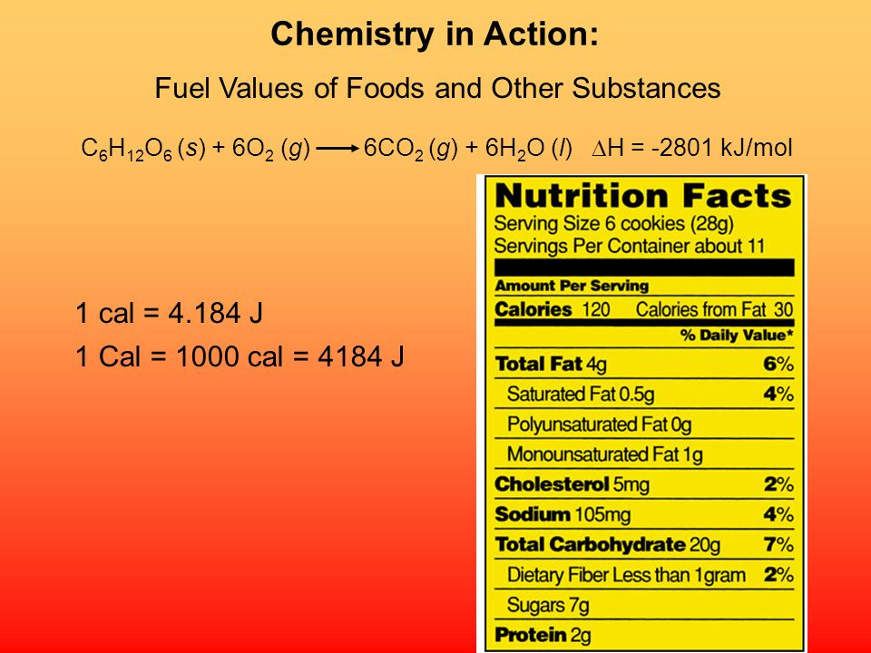 Chemistry in Action: Fuel Values of Foods and Other Substances