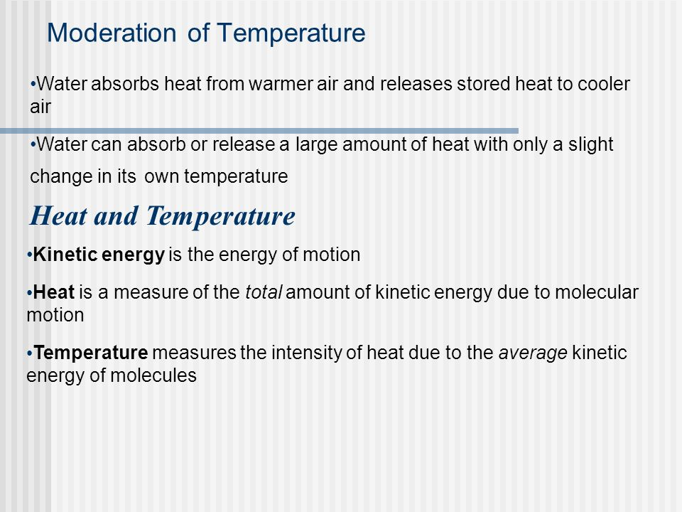Moderation of Temperature