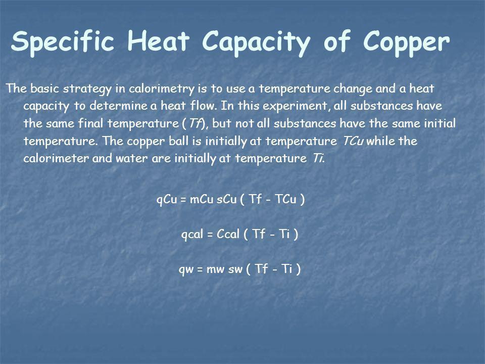 Specific Heat Capacity of Copper