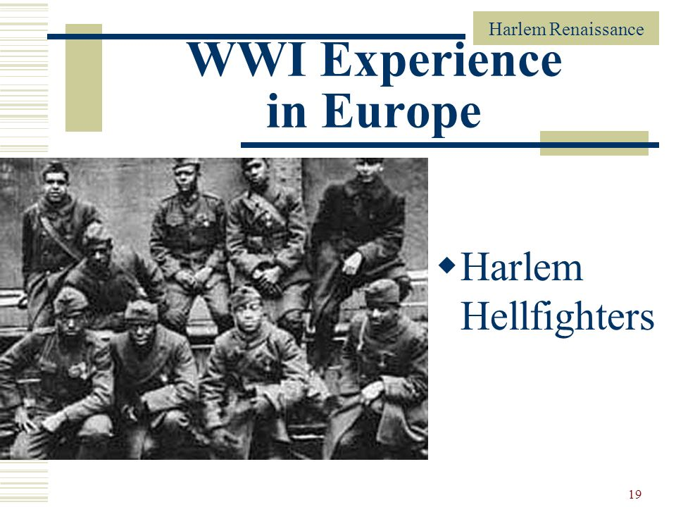 WWI Experience in Europe