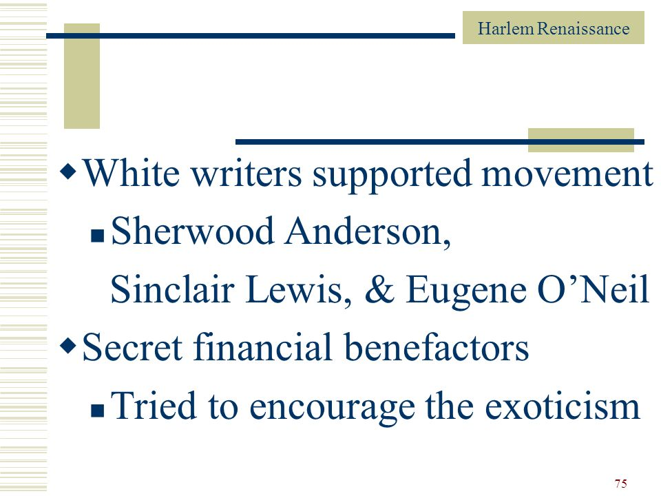White writers supported movement