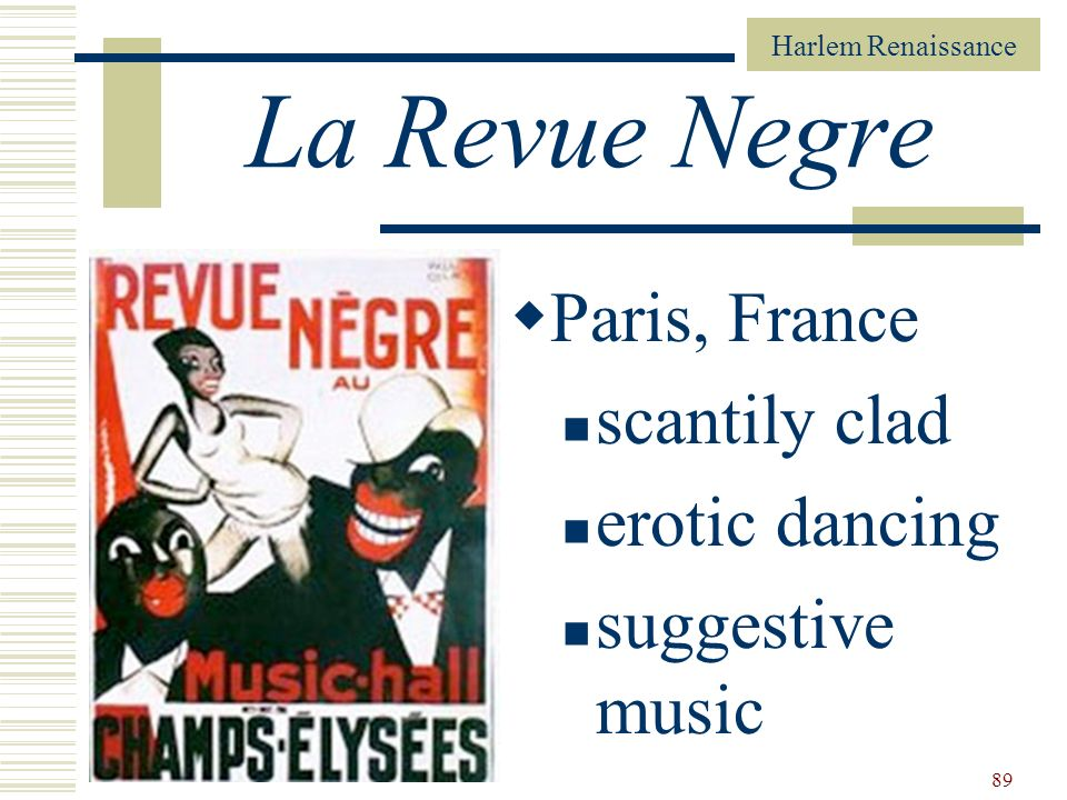 La Revue Negre Paris, France scantily clad erotic dancing