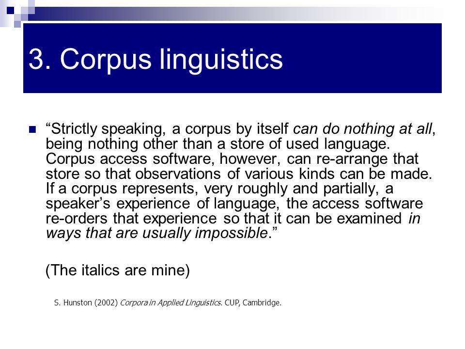 3. Corpus linguistics