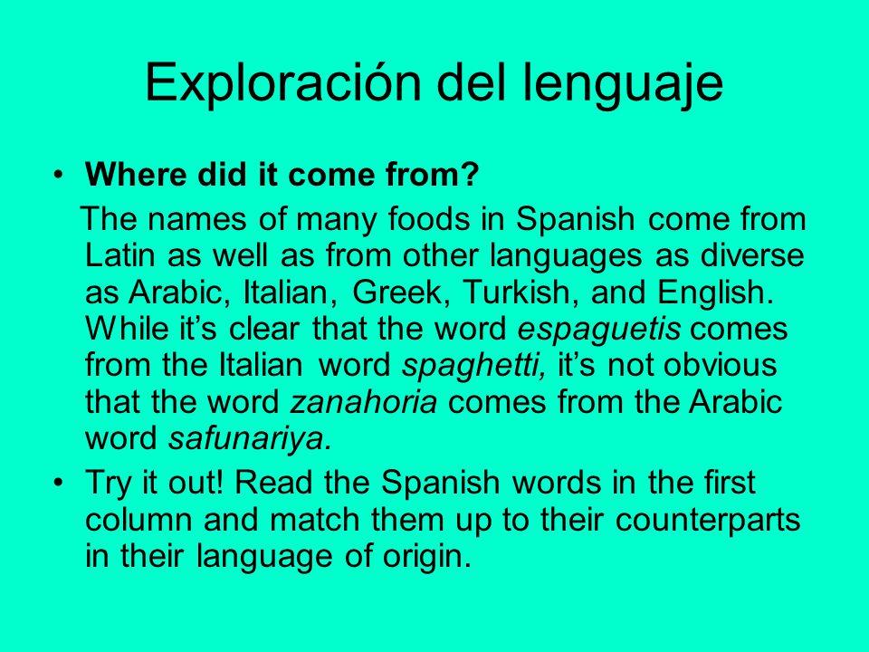 Exploración del lenguaje