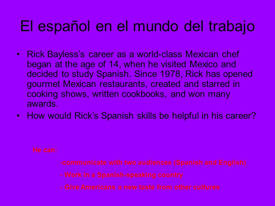 El español en el mundo del trabajo