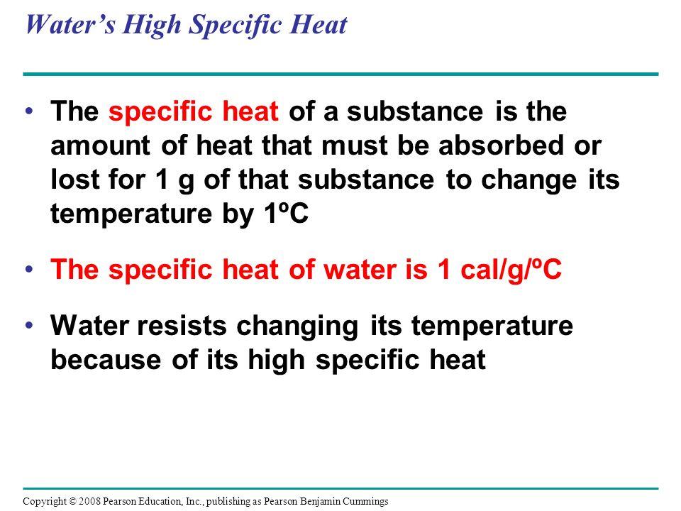 Water's High Specific Heat