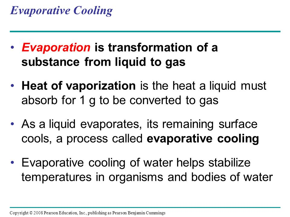 Evaporation is transformation of a substance from liquid to gas