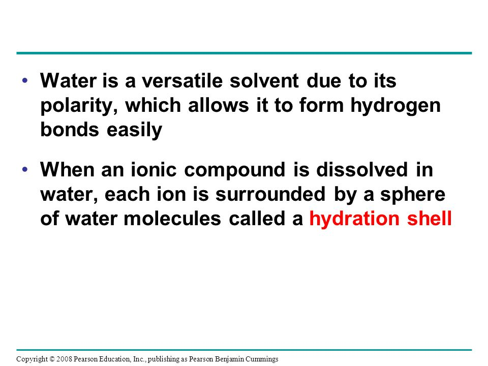 Water is a versatile solvent due to its polarity, which allows it to form hydrogen bonds easily