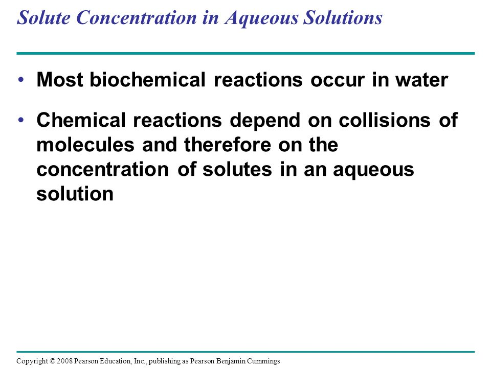 Solute Concentration in Aqueous Solutions
