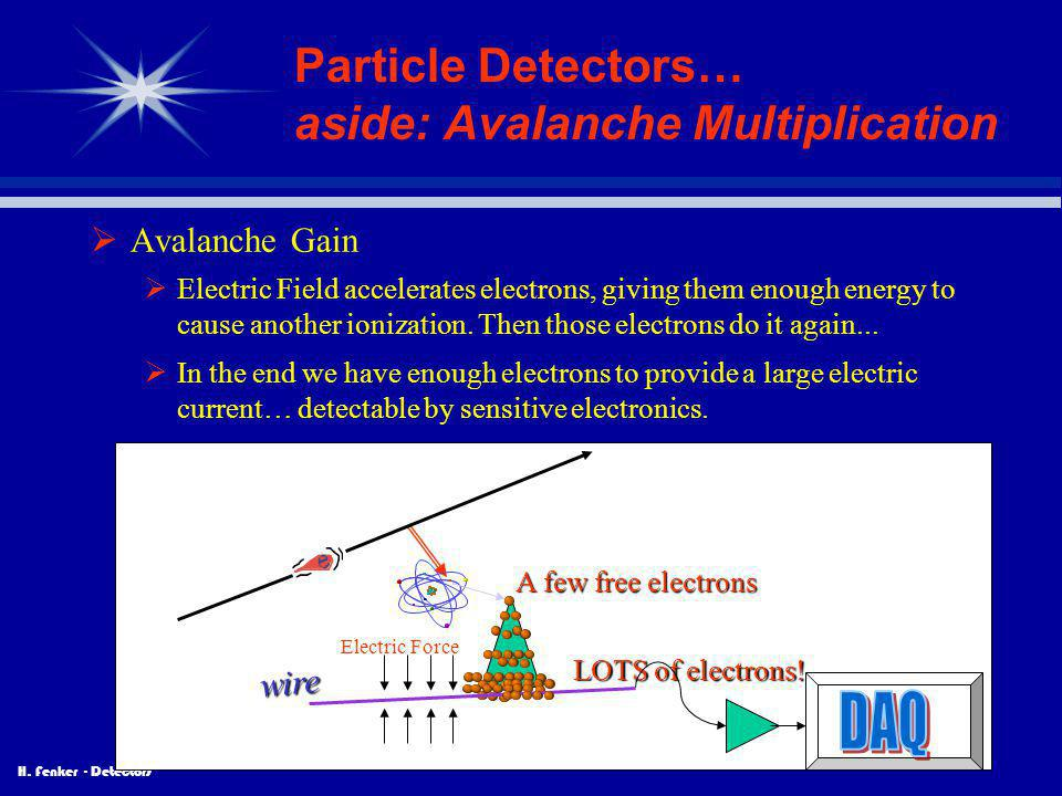 Particle Detectors… aside: Avalanche Multiplication
