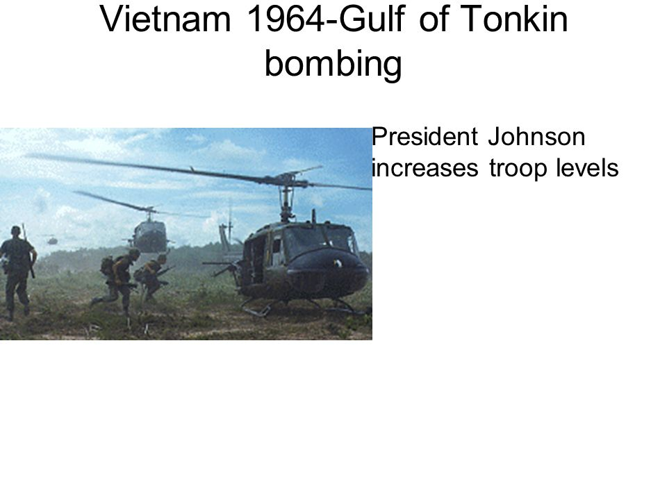 Vietnam 1964-Gulf of Tonkin bombing
