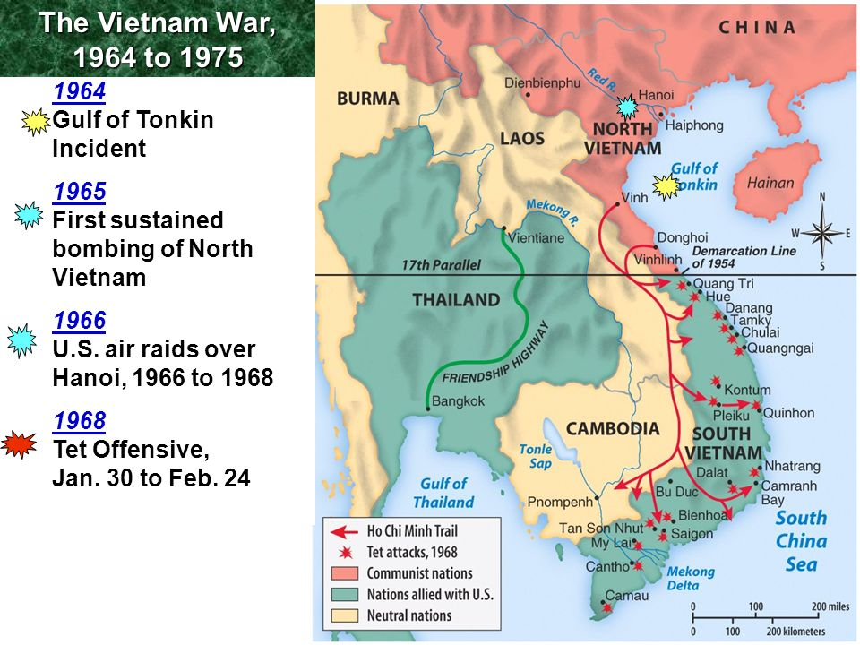 The Vietnam War, 1964 to Gulf of Tonkin Incident