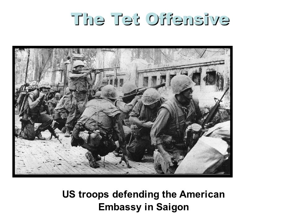 US troops defending the American Embassy in Saigon