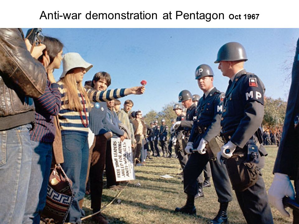 Anti-war demonstration at Pentagon Oct 1967