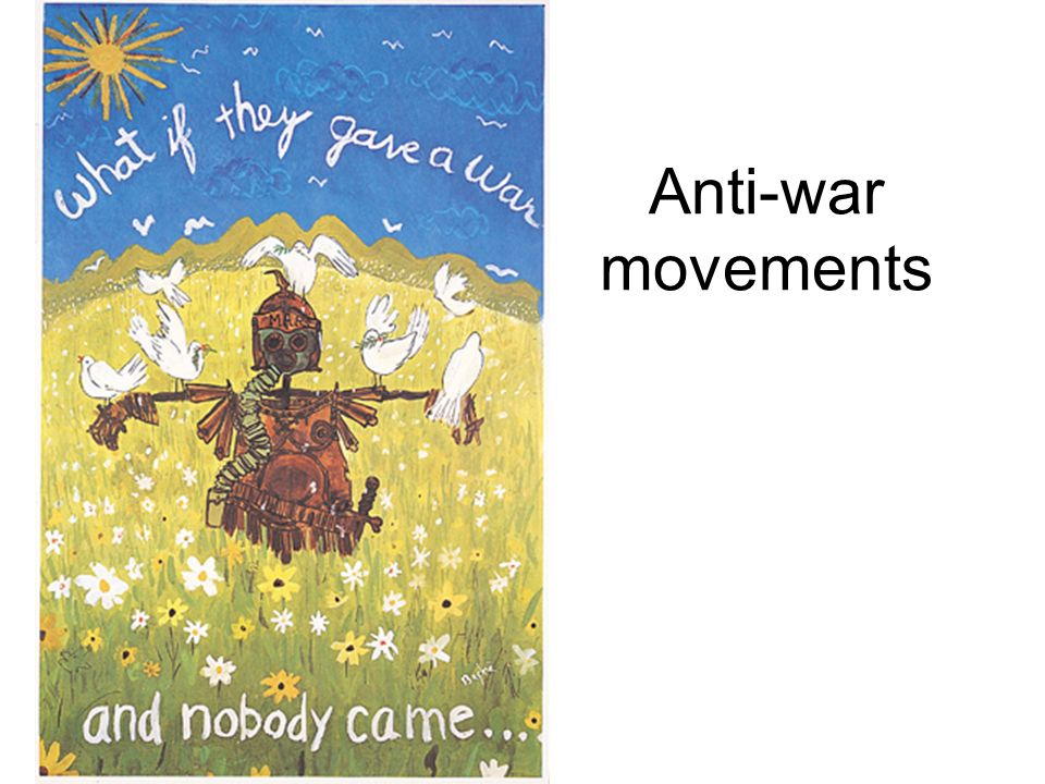 Anti-war movements brinkely