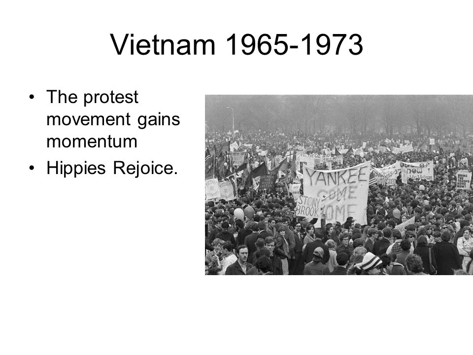 Vietnam The protest movement gains momentum Hippies Rejoice.