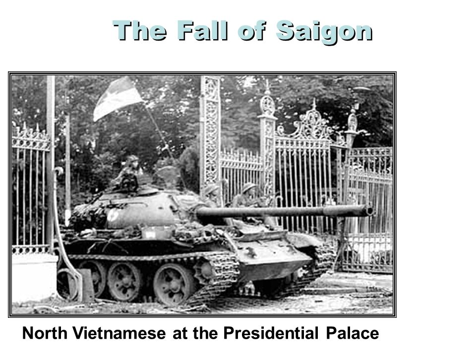 North Vietnamese at the Presidential Palace