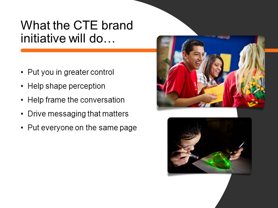 What the CTE brand initiative will do…