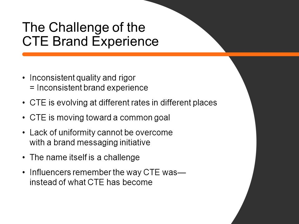 The Challenge of the CTE Brand Experience