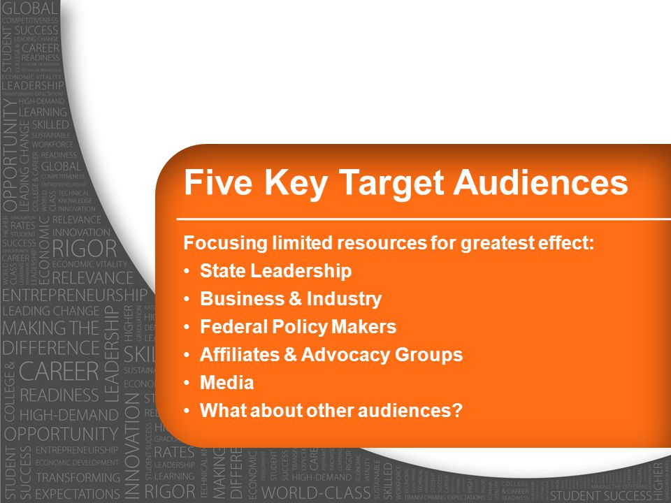 Five Key Target Audiences