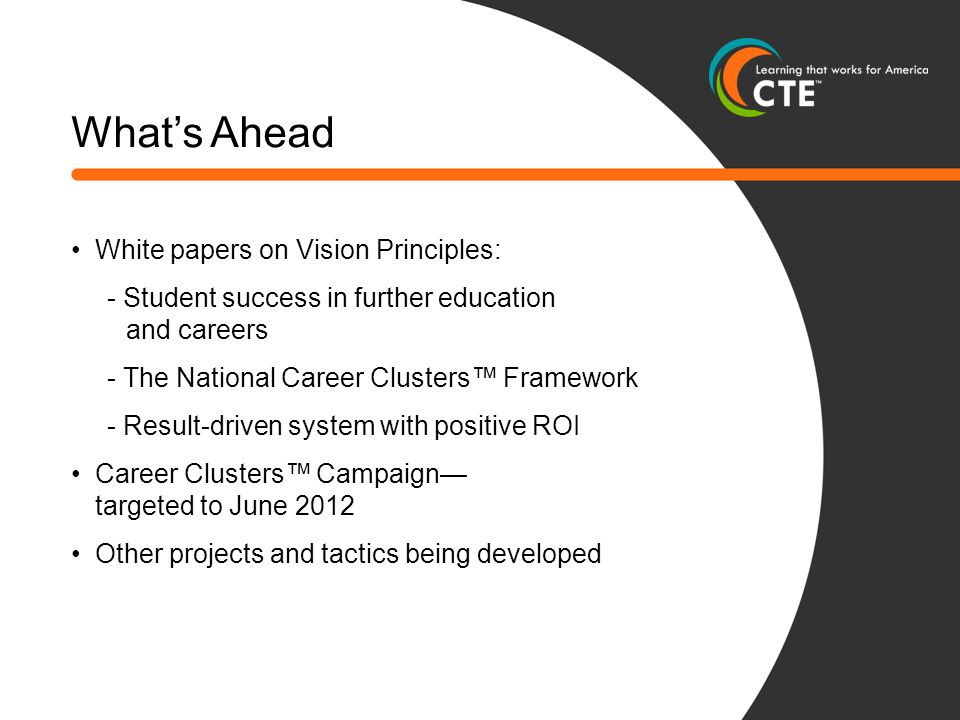 What's Ahead White papers on Vision Principles: