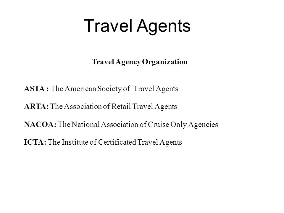 Travel Agency Organization