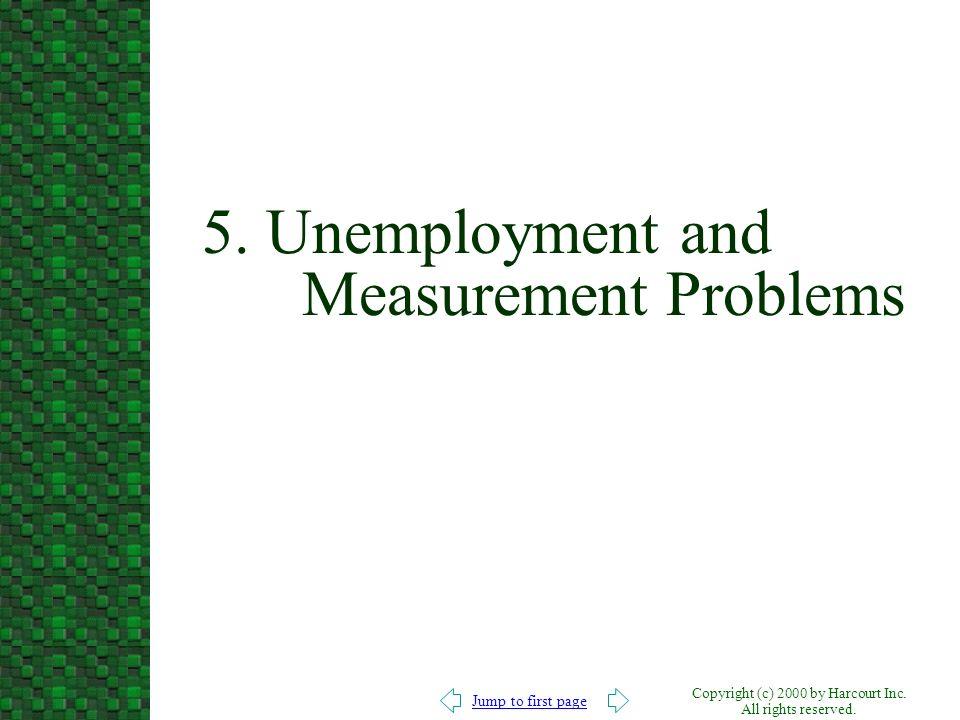 5. Unemployment and Measurement Problems