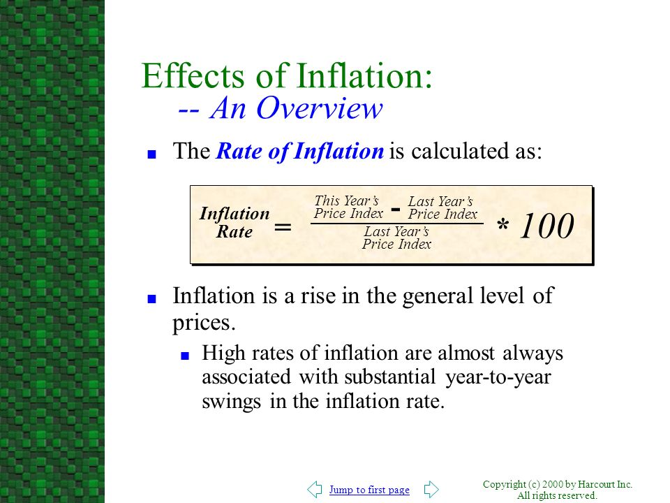 Effects of Inflation: -- An Overview