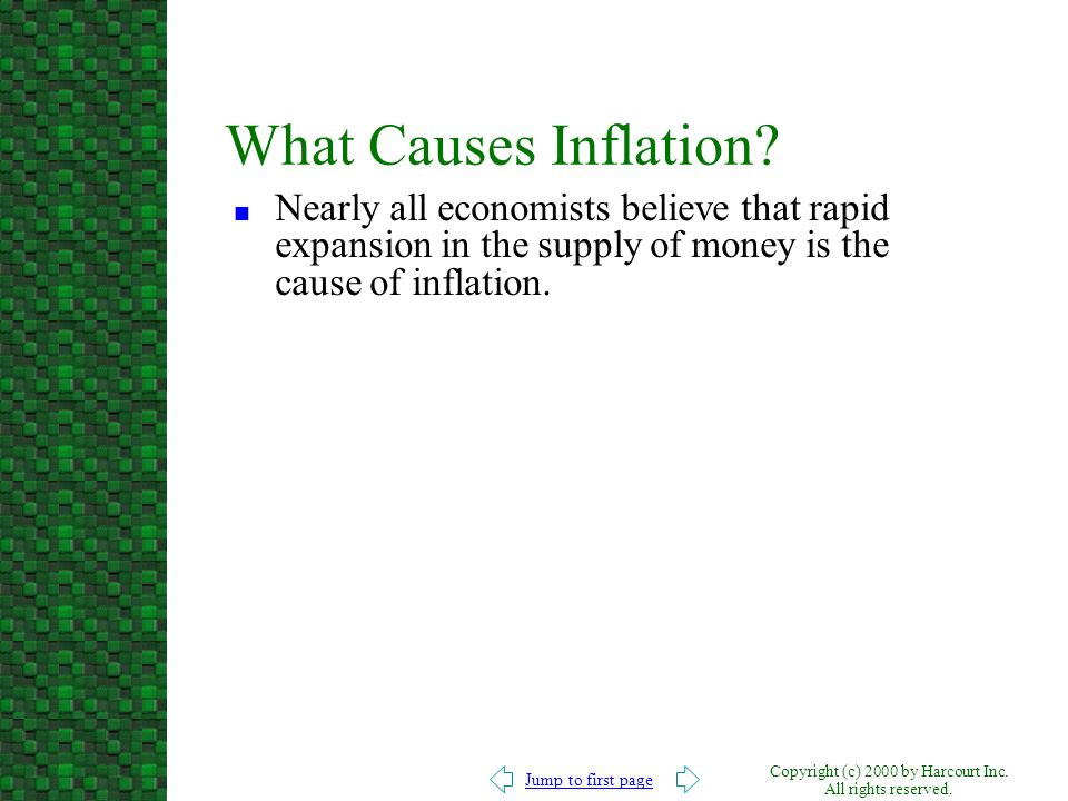 What Causes Inflation.